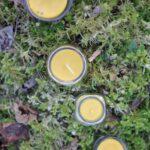 Mesilasvaha küünal klaaspurgis